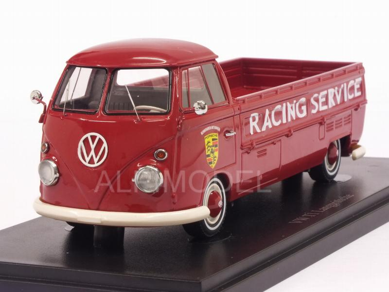 Volkswagen T1 Long PickUp Truck Porsche Racing Service 1967 (Red) by auto-cult