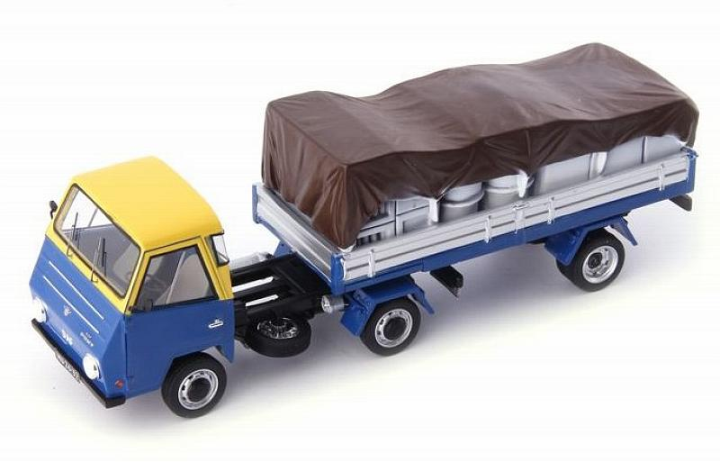 DAF Pony Truck with semi-trailer 1968 (Blue/Yellow) by auto-cult