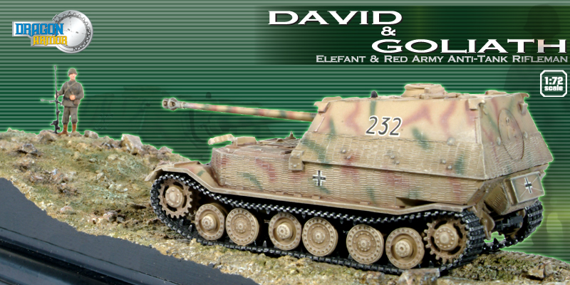 David and Goliath - Elefant and Red Army Anti-tank Rifleman (diorama) by dragon-armor