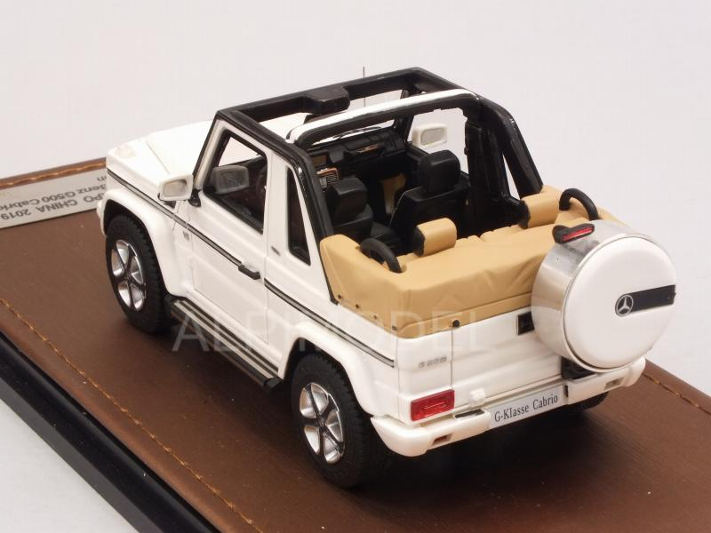 Mercedes G500 Cabriolet Final Edition 2019 (White) open roof - glm-models