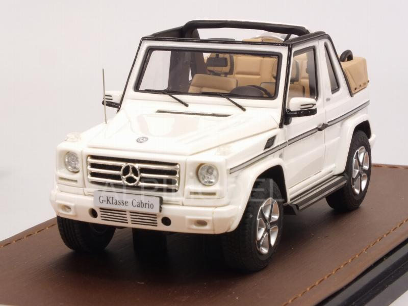 Mercedes G500 Cabriolet Final Edition 2019 (White) open roof by glm-models