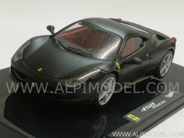 Ferrari 458 Italia (Matt Black) by hot-wheels