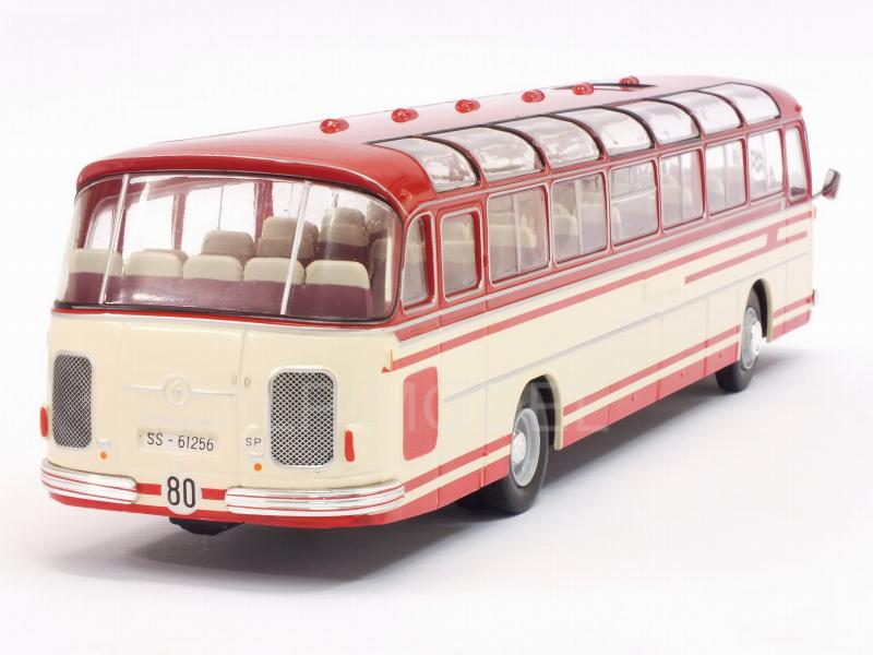 Setra S14 Bus 1966 (White/Red) - ixo-models