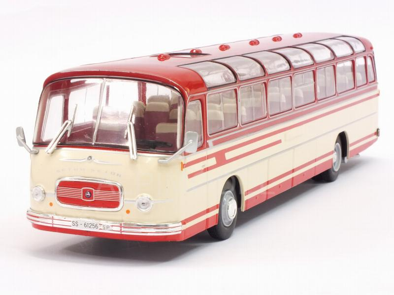 Setra S14 Bus 1966 (White/Red) by ixo-models