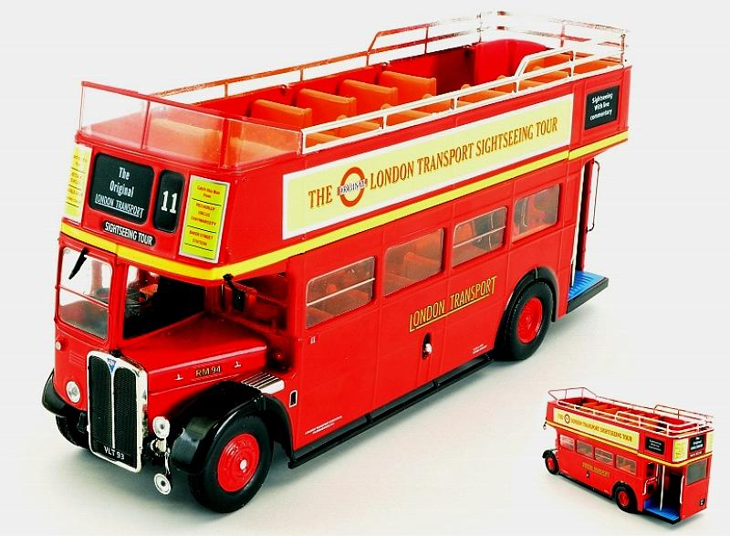 AEC Regent RT Red London Transport Bus 1950  open top by ixo-models