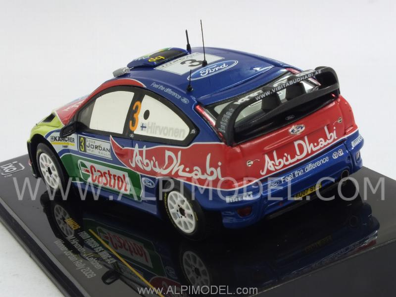 Ford Focus RS WRC #3 Winner Jordan Rally 2008 Hirvonen- Lehtinen - ixo-models