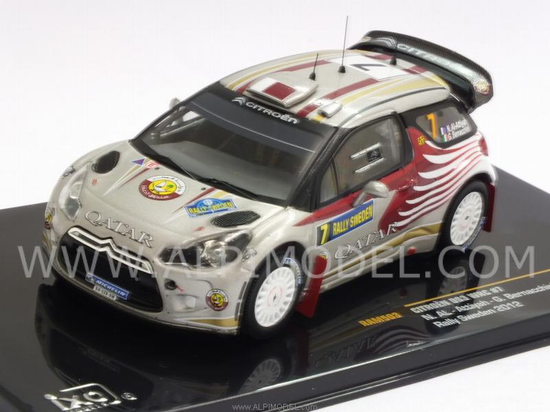 Citroen DS3 WRC #7 Rally Sweden 2012 Attiyah - Bernacchini by ixo-models