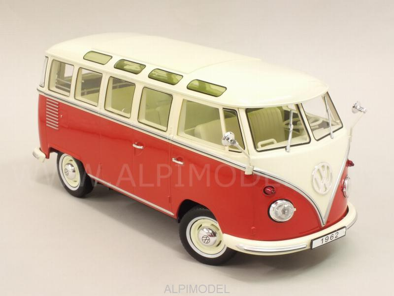 Volkswagen T1 Samba Bus 1959 (Red/Creme) - kk-scale-models