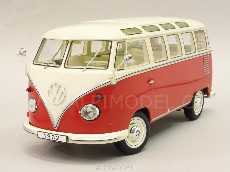Volkswagen T1 Samba Bus 1959 (Red/Creme) by kk-scale-models