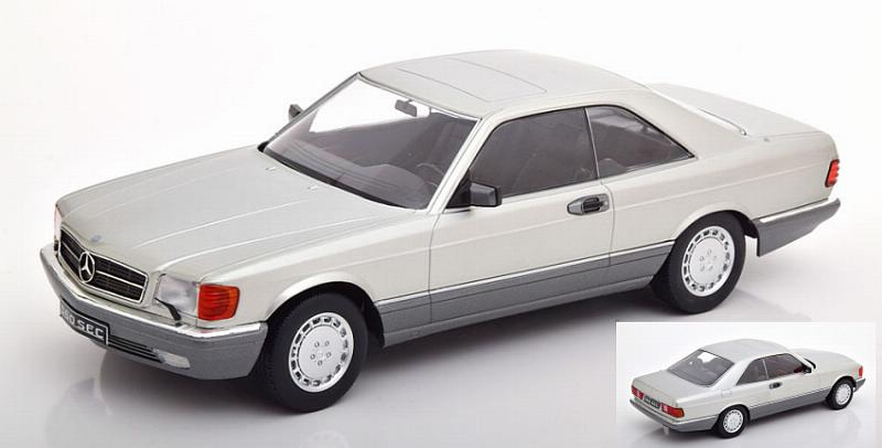 Mercedes 560 SEC (Cc126) (Silver) by kk-scale-models