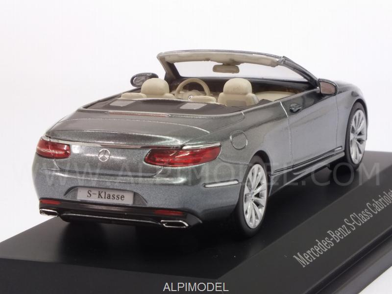 Mercedes S-Class Cabriolet 2015 (Selenite Grey) Mercedes Promo - kyosho