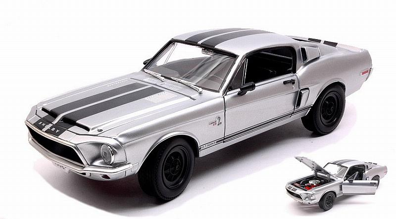 Shelby Ford Mustang GT-500 KR 1968 (Silver) by lucky-die-cast