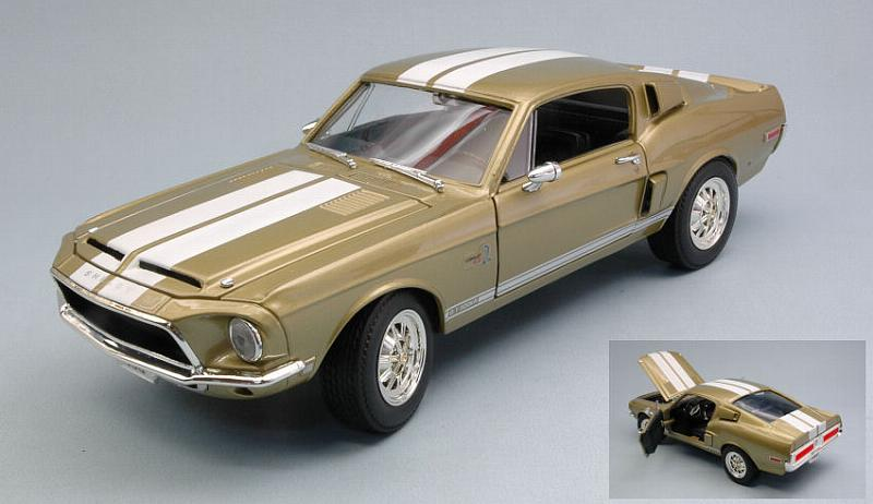 Shelby Mustang Gt-500 Kr 1968 Metallic Gold by lucky-die-cast
