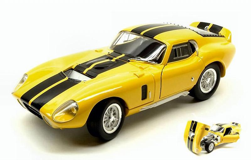 Shelby Cobra Daytona Coupe  1965 Yellow W/black Stripes by lucky-die-cast