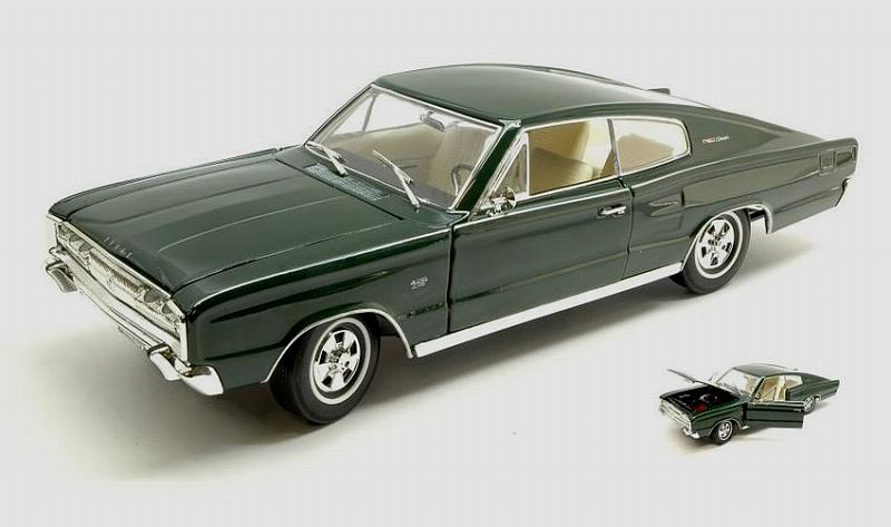 Dodge Charger 1966 Dark Green by lucky-die-cast