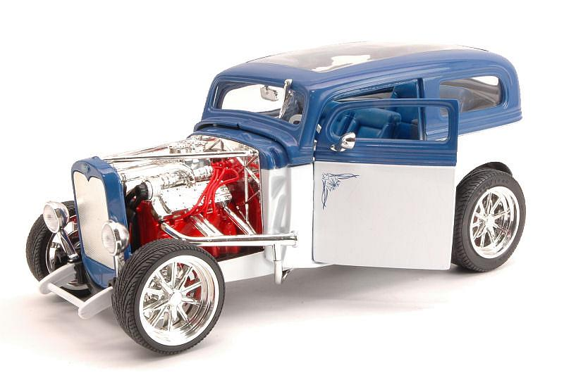 Ford Model A 1931 White/blue by lucky-die-cast