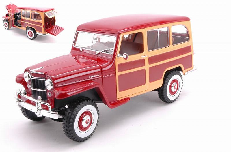 Willys Jeep Burgundy by lucky-die-cast