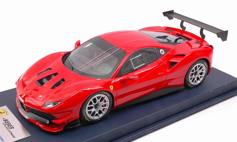 Ferrari 488 Challenge (Rosso Scuderia) with display case by looksmart