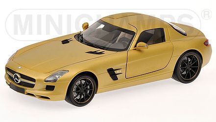 Mercedes SLS AMG Coupe 2010 Gold by minichamps