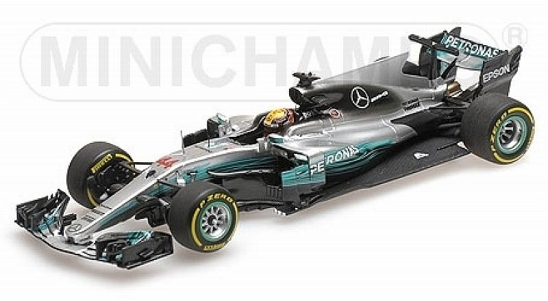 Mercedes W08 Winner GP China 2017 World Champion Lewis Hamilton by minichamps