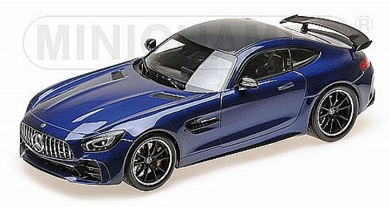 Mercedes AMG GT-R 2017 (Blue Metallic) by minichamps