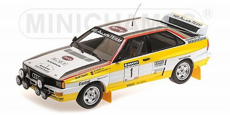 Audi Quattro A2 Rally New Zealand 1984 Rohrl - Geistdorfer by minichamps