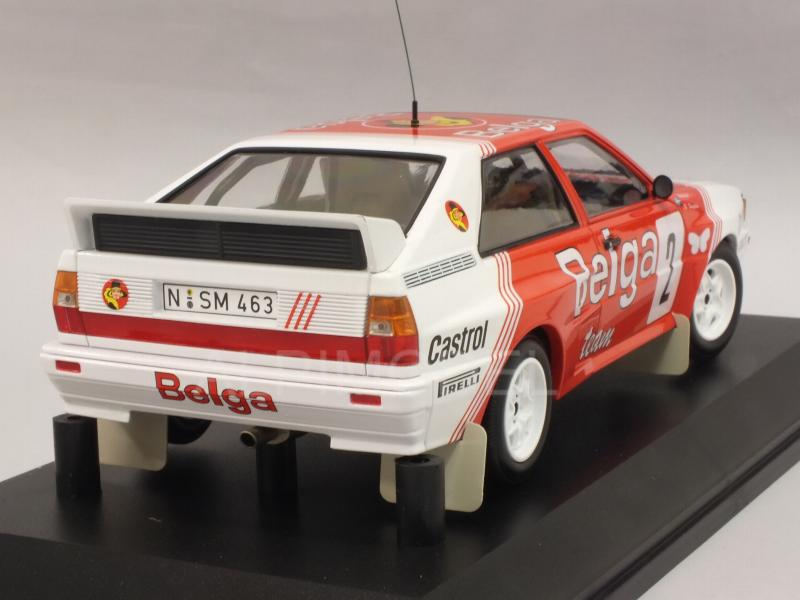 Audi Quattro A2 Belga Team #2 Winner Rally Boucles De Spa 1985 Waldegard - Thorszelius - minichamps