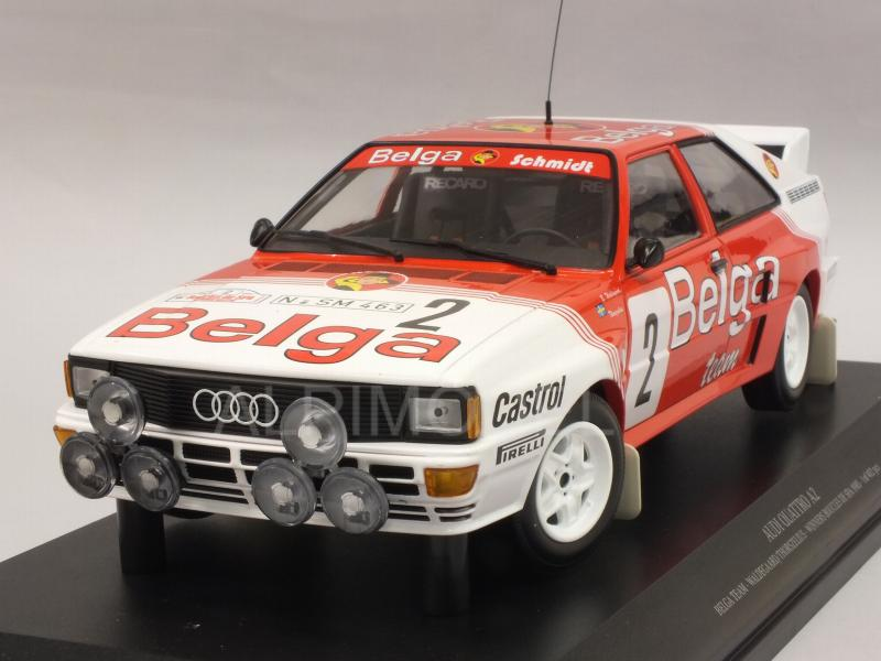 Audi Quattro A2 Belga Team #2 Winner Rally Boucles De Spa 1985 Waldegard - Thorszelius by minichamps