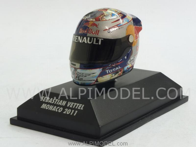 Helmet Arai GP Monaco 2011 World Champion Sebastian Vettel (1/8 scale - 3cm) by minichamps