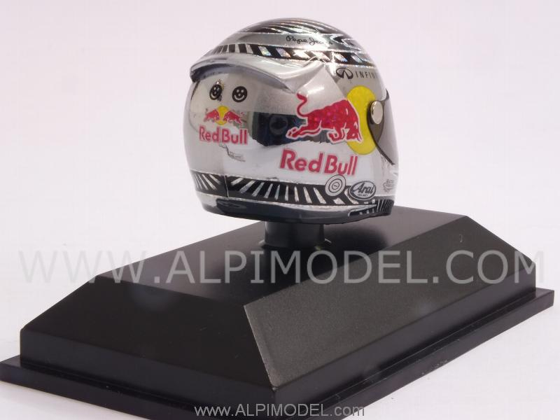 Helmet Arai 2012 World Champion Sebastian Vettel (1/8 scale - 3cm) - minichamps