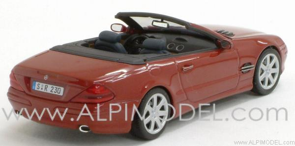Mercedes SL 2001 Red Metallic - minichamps