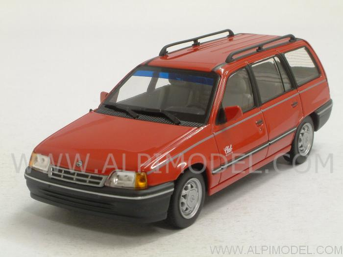Opel Kadett E Caravan 1989 (Magma Red) by minichamps