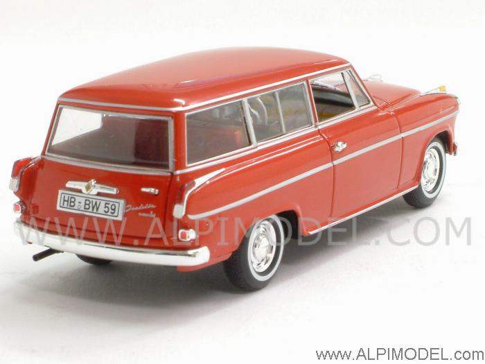 Borgward Isabella Break 1958 (Coral Red) - minichamps