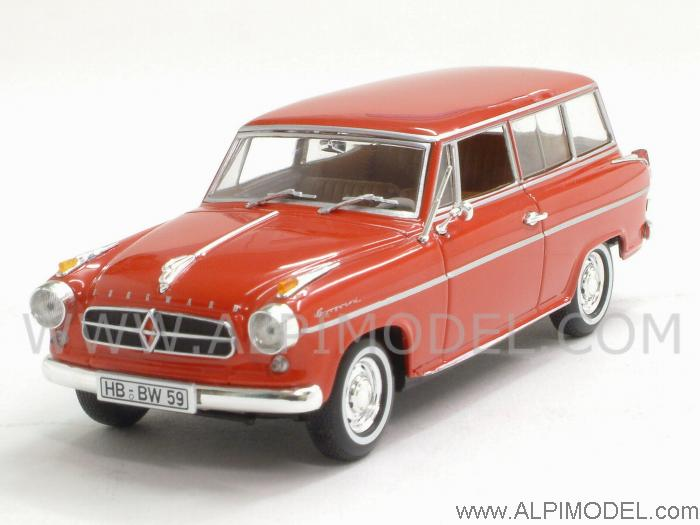 Borgward Isabella Break 1958 (Coral Red) by minichamps