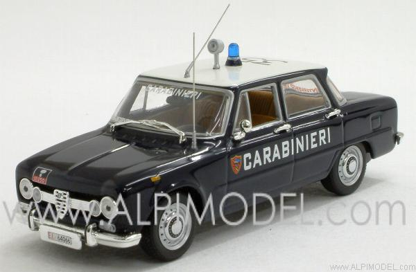 minichamps alfa romeo giulia 1600 carabinieri 1970 1 43 scale model. Black Bedroom Furniture Sets. Home Design Ideas