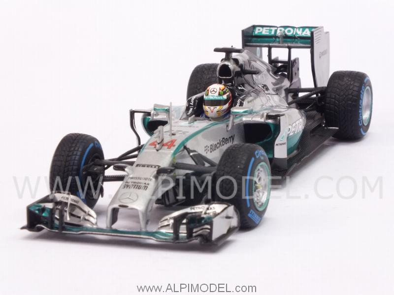 Mercedes W05 AMG F1 Hybrid Winner GP Japan 2014 World Champion Lewis Hamilton (rain tyres) by minichamps