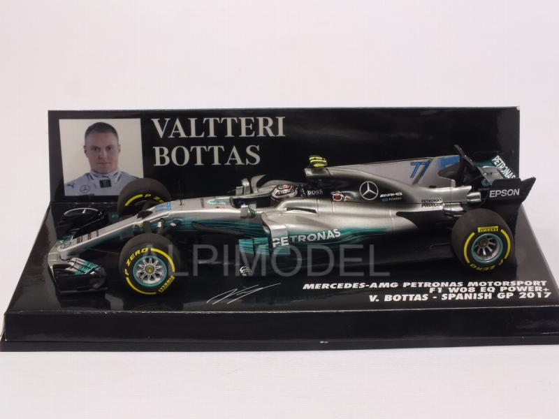 Mercedes W08 AMG #77 GP Spain 2017 Valtteri Bottas - minichamps