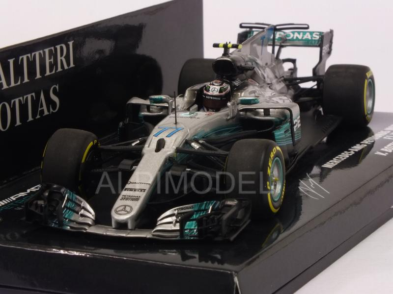 Mercedes W08 AMG #77 GP Spain 2017 Valtteri Bottas by minichamps