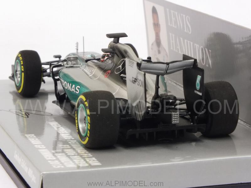 Mercedes W06 AMG F1 Hybrid Winner GP Belgium 2015 World Champion Lewis Hamilton (HQ Resin) - minichamps