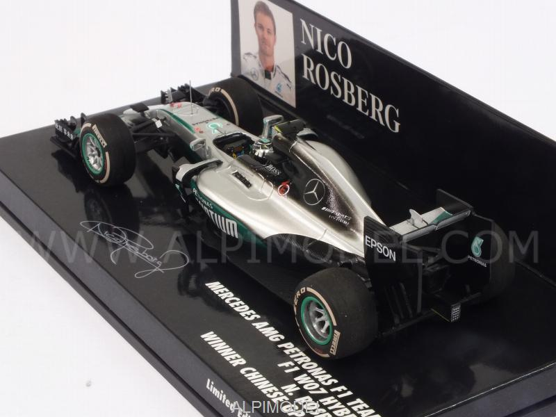 Mercedes W07 AMG Hybrid #6 Winner GP China 2016 World Champion Nico Rosberg (HQ resin) - minichamps