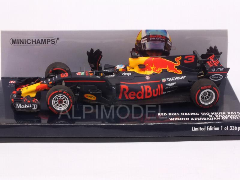Red Bull RB13 #3 Winner GP Azerbaijan 2017 Daniel Ricciardo (HQ resin) - minichamps