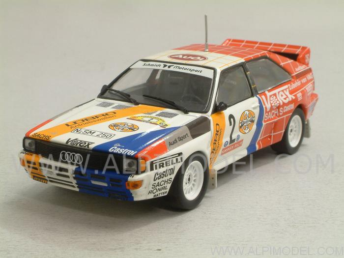 Audi Quattro #2 Rally Winner Hunsruck Rally 1984 Demuth - Lux by minichamps