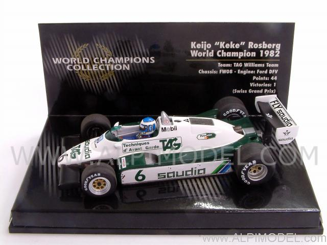 Williams Ford FW08 Winner GP Switzerland - World Champion 1982 Keke Rosberg - minichamps