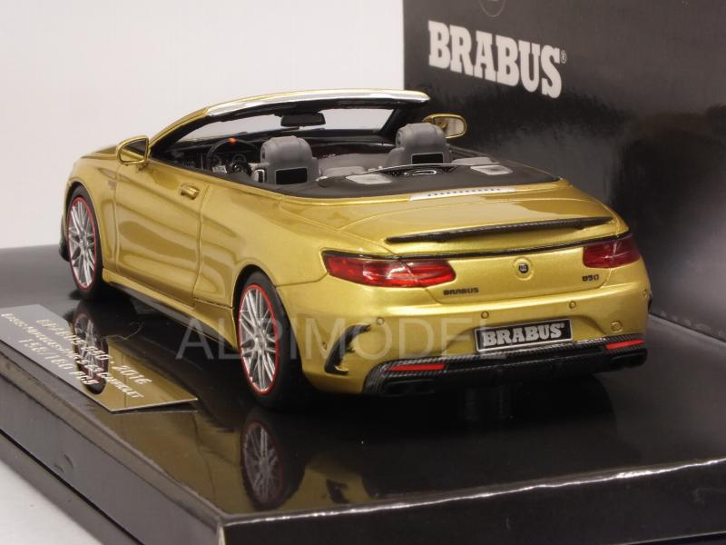 Brabus 850 (Mercedes AMG S63 Cabriolet) 2016 (Gold) - minichamps
