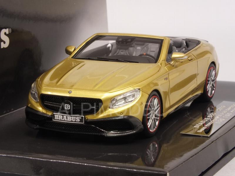 Brabus 850 (Mercedes AMG S63 Cabriolet) 2016 (Gold) by minichamps