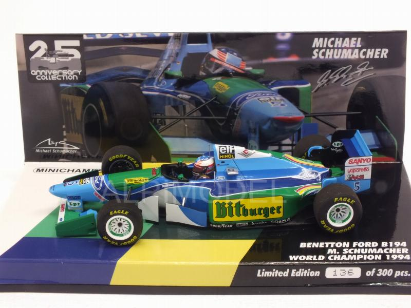 Benetton B194 Ford #5 1994 Michael Schumacher  World Champio - minichamps