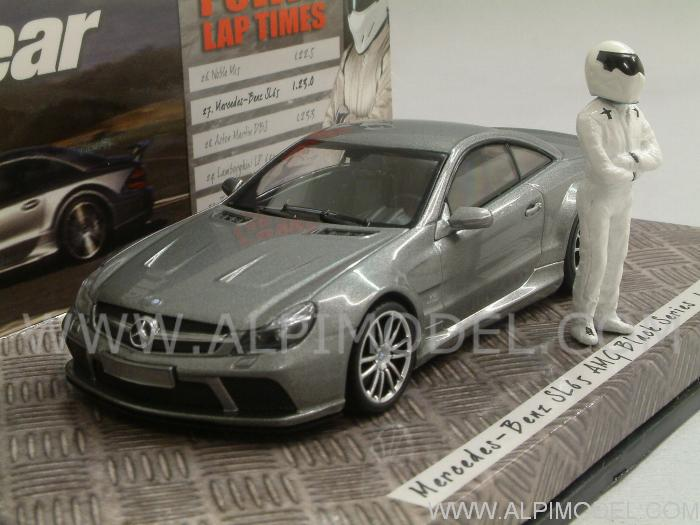 Mercedes SL65 AMG 2009 Black Series 'Top Gear' with 'The Stig' figurine - minichamps