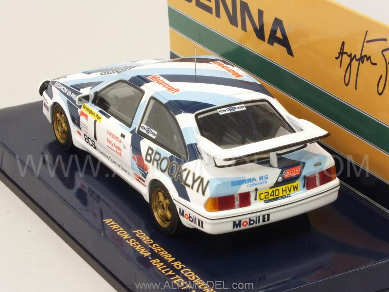 Minichamps ford sierra rs cosworth 1 rally test 1986 ayrton senna collection 1 43 scale model