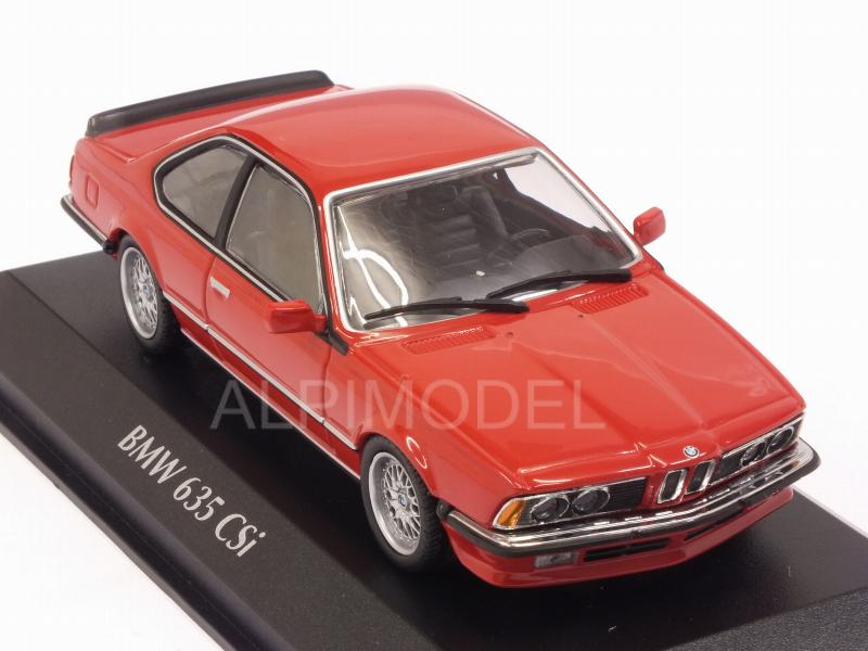BMW 635 CSi (E24) 1982 (Red) 'Maxichamps' Edition - minichamps
