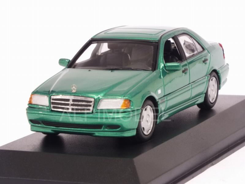 Mercedes C-Class 1997 (Green Metallic)  'Maxichamps' Edition by minichamps